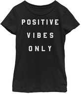 Fifth Sun Black 'Positive Vibes Only' Crewneck Tee - Girls