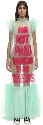 Viktor & Rolf I Am Not Paid Tulle Maxi Dress