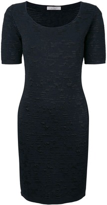 D-Exterior Textured Knit Dress