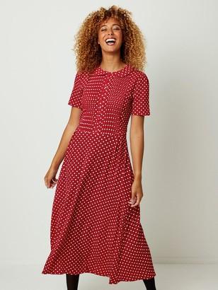 Joe Browns Perfect Polka Dot Dress - Red