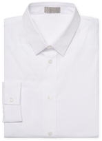 Christian Dior Solid Cotton Dress Shirt