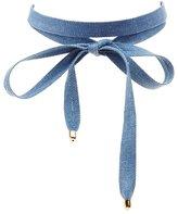 Charlotte Russe Denim Wrap Choker Necklace