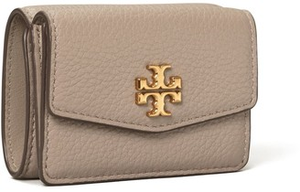Tory Burch Kira Mixed-Materials Tri-Fold Mini Wallet