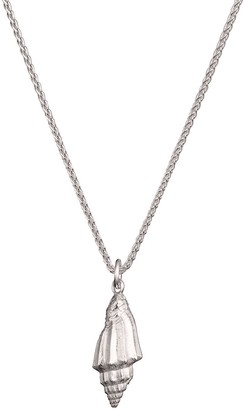 Wild & Fine Silver Conch Shell Charm Necklace