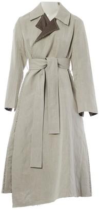 Eudon Choi Grey Linen Coats