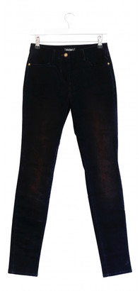 Chanel Navy Cotton Jeans
