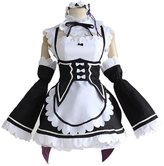 Mtxc Women's Re:Zero Starting Life in Another World Cosplay Ram/Rem Maid UniformSize Small