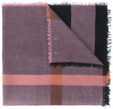 Burberry Relaxed Mega Check scarf - women - Leather/Modal/Wool - One Size