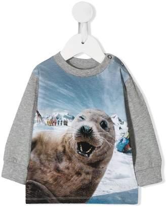 Molo Kids seal print sweatshirt
