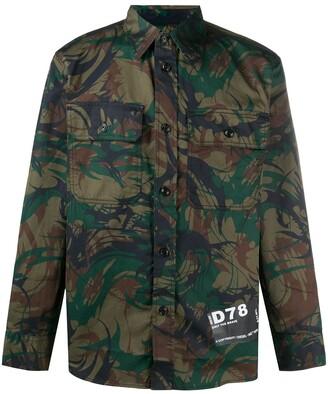 Diesel Camouflage Button-Up Shirt