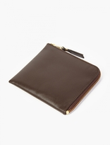 Comme des Garcons Brown Leather Coin Wallet