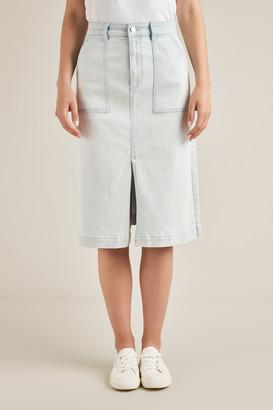 Seed Heritage Midi A-Line Denim Skirt