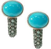 Judith Ripka Sterling Turquoise & Blue Topaz Earrings