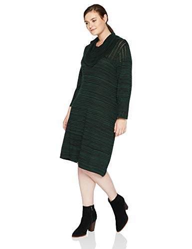 Women\'s 1 PC Plus Size Long Sleeve A Line Cowl Neck Sweater Dress