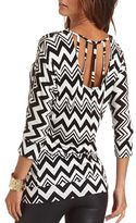 Charlotte Russe Banded Caged Back Tunic