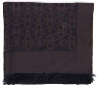 Salvatore Ferragamo Gancini Two Colors Wool Male Scarf