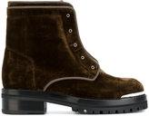 Alexander McQueen zip front boots