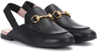 Gucci Kids Princetown leather slippers