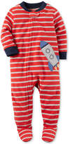 Carter's 1-Pc. Striped Rocket Footed Pajamas, Baby Boys (0-24 months)