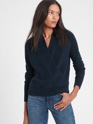 Banana Republic Aire Wrap-Front Sweater
