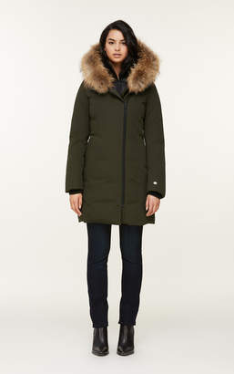 Soia & Kyo SALMA classic down coat with removable natural fur