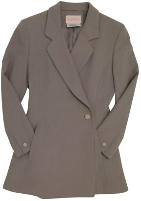 Byblos Grey Wool Jacket for Women Vintage