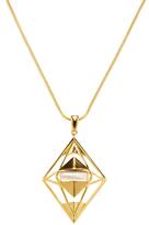 Noir Women's Geometric Outline Pendant Necklace