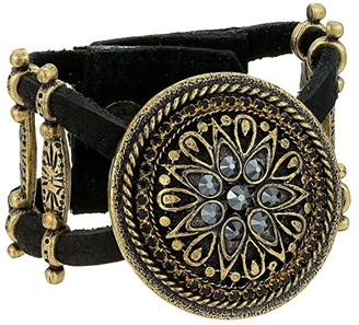 Leather Rock Claudine Bracelet (Black) Bracelet