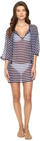 Tommy Bahama Breton Stripe Tie Front Tunic Cover-Up