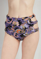 Mink Pink/ agent icon The Endless Stunner Swimsuit Bottom in Purple Paisley