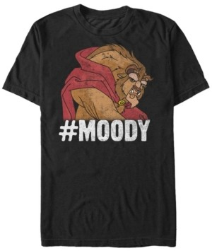Disney Men's Beauty the Beast Moody Grumpy, Short Sleeve T-Shirt