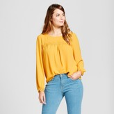 A New Day Women's Lace Detail Blouse - A New Day Gold