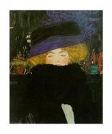 Gustav 1art1 Posters Klimt Poster Art Print - Lady With Hat (20 x 16 inches)