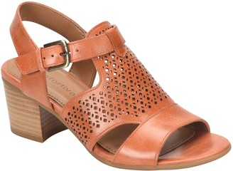 Comfortiva Leather Sandals - Amber