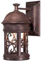 The Great outdoors by Minka Lavery Sage Ridge 1-Light Vintage Rust Outdoor Wall Mount Lantern