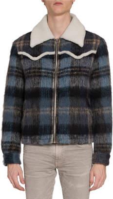 Amiri Men's Plaid Wool Short Western Jacket