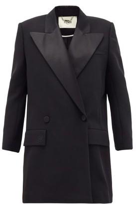 Fendi Satin-lapel Double-breasted Cady Jacket - Black