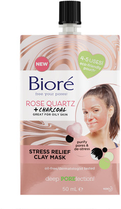 Biore Rose Quartz & Charcoal Stress Relief Clay Mask For Oily Skin 50Ml