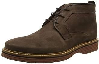 Clarks Men's Newkirk Top Ankle Boots, Dark Brown Nub