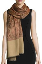 Sabira Sehrab Paisley Wool Shawl, Dark Orange