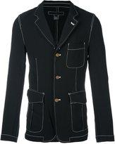Comme des Garcons contrast stitching three button blazer