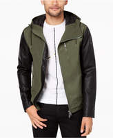 Armani Exchange Men's Mixed-Media Hooded Jacket