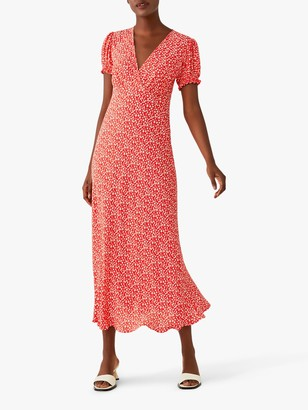 Ghost Poet Floral Maxi Dress, Red