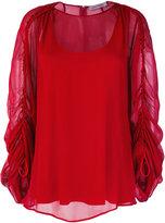 Sportmax sheer gathered sleeves blouse