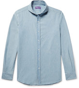 Ralph Lauren Purple Label - Slim-fit Cutaway-collar Cotton-chambray Shirt