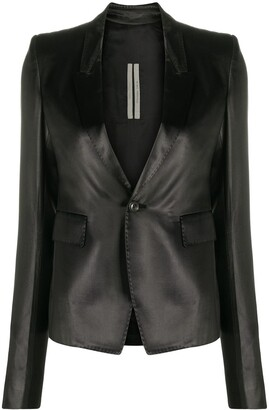 Rick Owens textured deep V-neck blazer