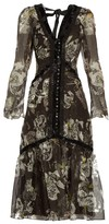 Erdem Makayla V-neck silk-organza dress