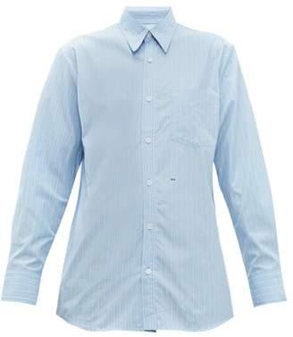 A.P.C. X Suzanne Koller Codeo Striped Cotton Shirt - Womens - Light Blue