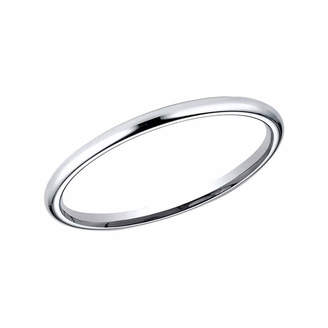 MODERN BRIDE Womens 2 Mm Platinum Wedding Band