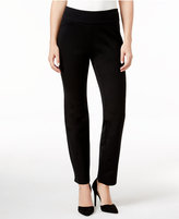 Charter Club Petite Cambridge Tummy-Control Slim-Leg Pants, Only at Macy's